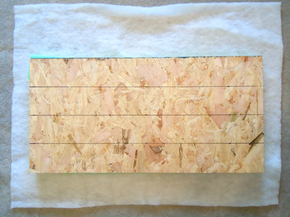 Plywood face down with markings