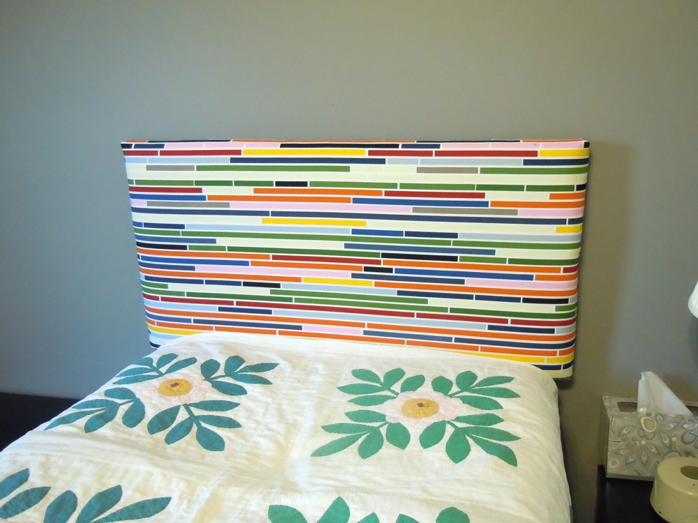 Upholstered twin head board