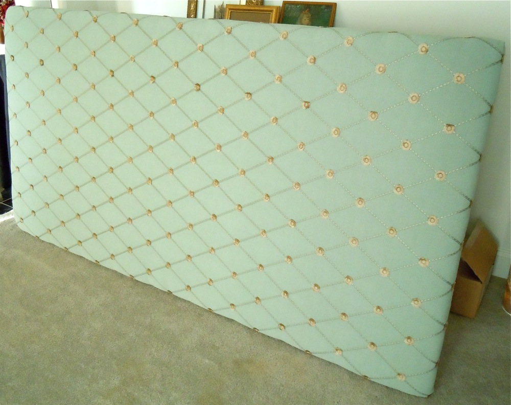 Front view of the headboard