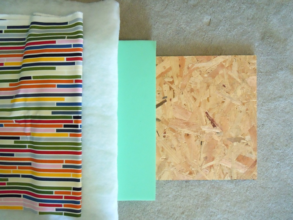 Materials used on an upholstered headboard