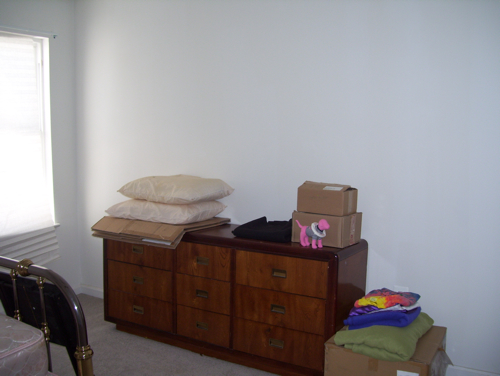 Guest bedroom before dresser
