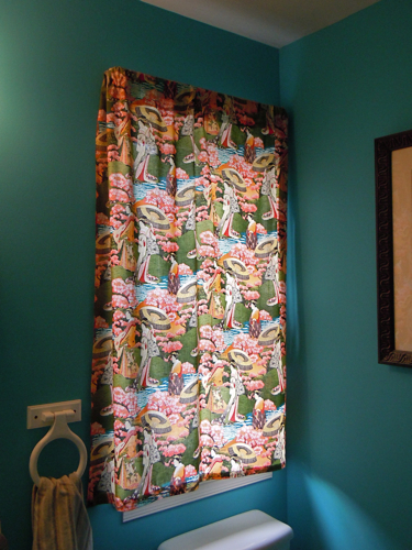 Half bath curtain panel