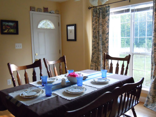 A view from the other side, summer dining table