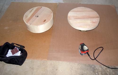 Little palm sander with cheese boxes