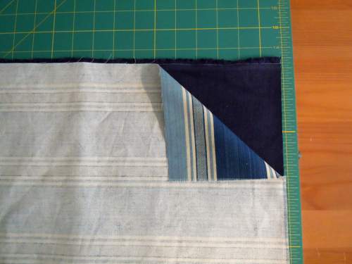 Place fabric right sides together