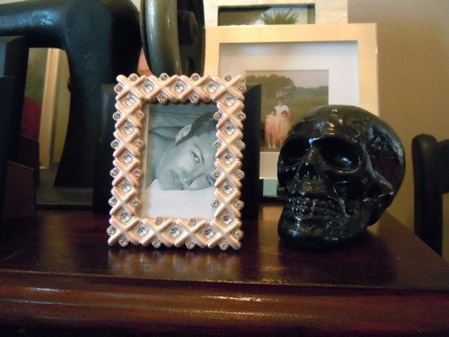 Skull with photo