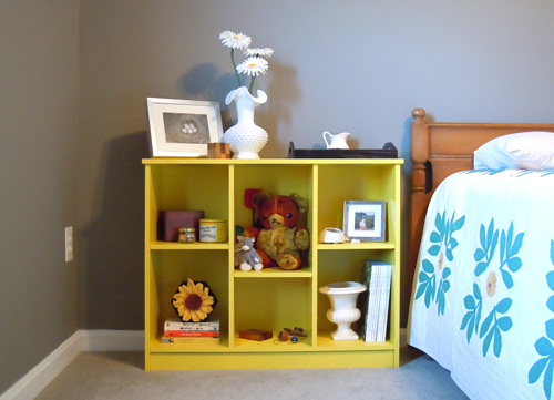 Bookshelf and Bed