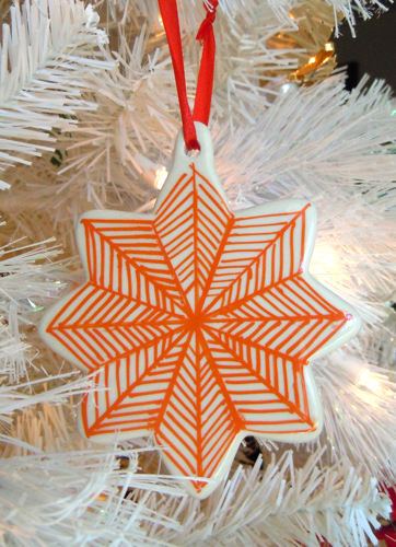 Painted Striped Ornament