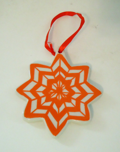 Chevron Painted Ornament