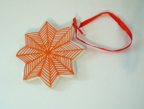 Striped Painted Ornament