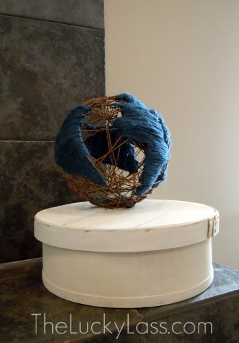 DIY Globe on Cheesebox