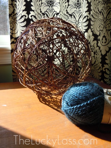 grapevine ball and alpaca wool yarn