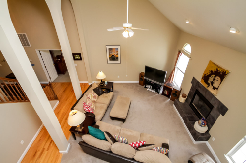 Top view of Living Room