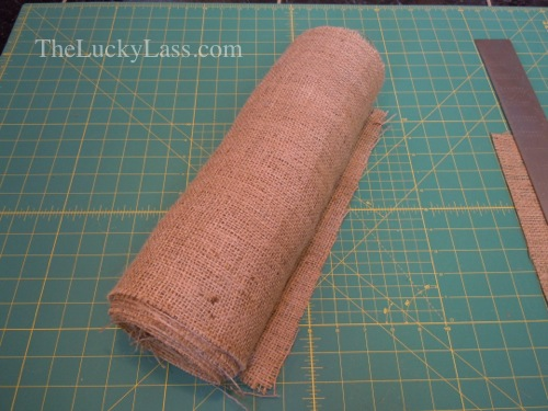Roll up burlap