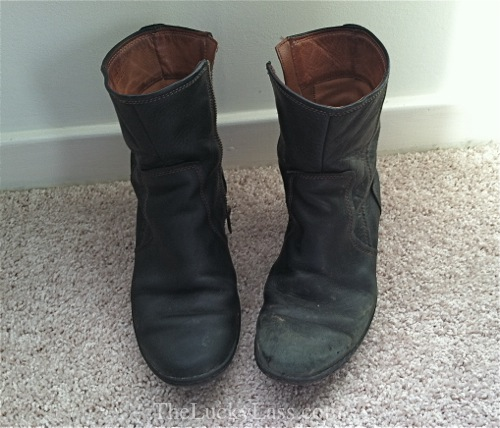 Before and After Boot Cleaning