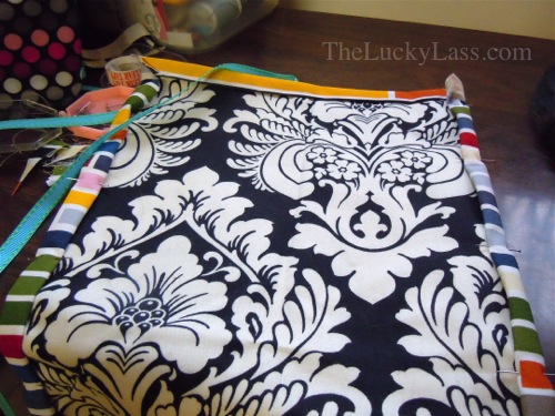 Fold over sides and sew