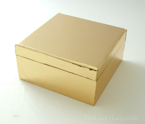 Gold Paper Covered Box
