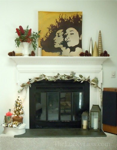 Simple Holiday Mantle