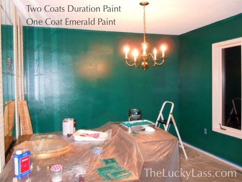 Two Coats of Duration and One Coat of Emerald