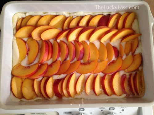 Ready for the Oven - Peach Cobbler